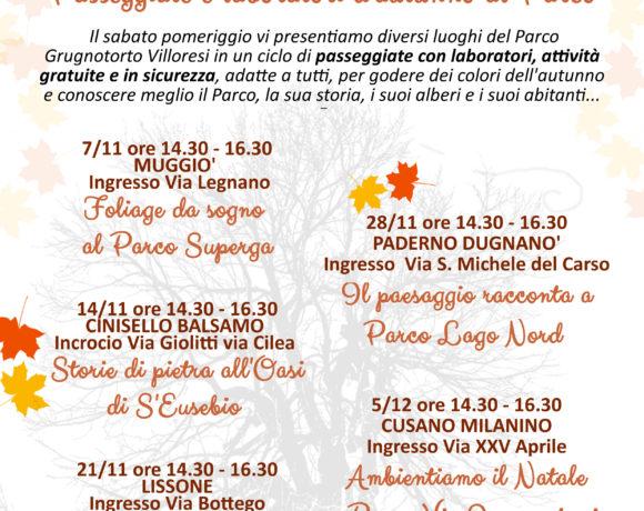Passeggiate e laboratori d'Autunno al Parco Grugnotorto Villoresi!